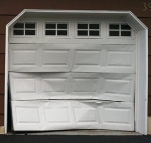 Dented Garage Door Section