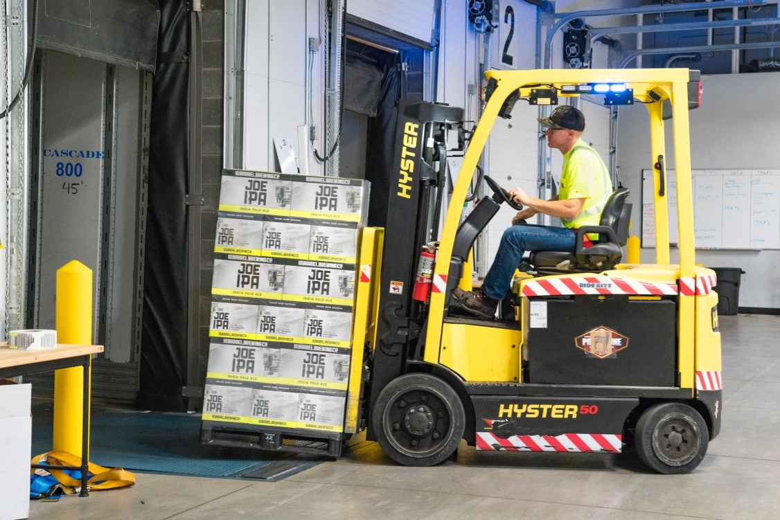 Commercial Garage Door Forklift
